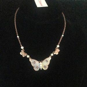 BETSEY JOHNSON Blue Hue Butterfly Necklace